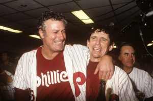 The 1980 World Series matched the Philadelphia Phillies against the Kansas City Royals, with the Phillies winning in six games to capture the first of two World Series titles in franchise history to date. The series concluded after Game 6, which ended with Tug McGraw striking out Willie Wilson at 11:29 pm on October 21, 1980. Wilson set a World Series record by striking out twelve times (after getting 230 hits in the regular season) in the six-game set. The Kansas City Royals became the second expansion team, and the first American League expansion team, to appear in the World Series. The AL would have to wait until 1985 before one of their expansion teamsÑthe Royals themselvesÑwould win a World Series. This was the first World Series played entirely on artificial turf. This was also the first World Series since 1920, and the last to date, in which neither team had won a World Series before. With their victory, the Phillies became the final team out of the original sixteen MLB teams to win a World Series.
