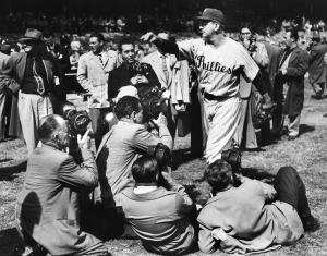 Relief ace and NL MVP Jim Konstanty was the surprise starter in game one of the 1950 World Series