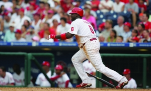 "Ryan James Howard (Big Piece) (twitter: @ryanhoward) Position: First Baseman Bats: Left, Throws: Left Height: 6' 4"", Weight: 250 lb. Born: November 19, 1979 in St. Louis, MO (Age 36.015) High School: Lafayette HS (Wildwood, MO) School: Missouri State University (Springfield, MO) Drafted by the Philadelphia Phillies in the 5th round of the 2001 amateur draft. Signed July 2, 2001. (All Transactions) Debut: September 1, 2004 (Age 24.287, 16,162nd in MLB history)   vs. ATL 1 AB, 0 H, 0 HR, 0 RBI, 0 SB Rookie Status: Exceeded rookie limits during 2005 season [*] Team: Phillies 2004-2015 2016 Contract Status: Signed thru 2016, 5 yrs/$125M (12-16) & 17 team option (details) [*] Service Time (01/2016): 10.145, Free Agent: 2017 [*], Agents: CAA Sports (Greg Landry Jennifer Brasile, Casey Close), previously: Jim Turner, Larry Reynolds [*]     About biographical information"
