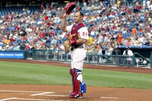Mike Liberthal caught his 1,125th game as a member of the Phillies (a 6-4 loss to the Washington Nationals), surpassing Red Dooin as the all-time leader.