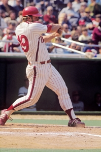 """Gregory Michael Luzinski (the Bull) Positions: Leftfielder and Designated Hitter Bats: Right, Throws: Right Height: 6' 1"""", Weight: 220 lb. Born: November 22, 1950 in Chicago, IL (Age 63) High School: Notre Dame HS (Niles, IL) Drafted by the Philadelphia Phillies in the 1st round (11th pick) of the 1968 amateur draft. Signed June 9, 1968. (All Transactions) Debut: September 9, 1970 (Age 19) Teams (by GP): Phillies/WhiteSox 1970-1984 Agents: Jack Sands [*] Final Game: September 24, 1984 (Age 33)"""